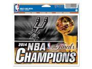 San Antonio Spurs 2014 NBA Championship Window Cling Decal by Wincraft 165978 9SIA12Y1T81192