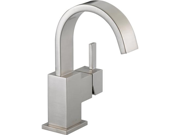 Delta 553LF-SS Vero Single Hole 1-Handle High-Arc Bathroom Faucet in Stainless