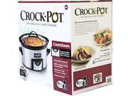 Crock Pot SCCPVC609-SS 6 QT Programmable Countdown Slow Cooker w/ Dipper