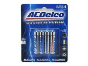 Powermax Maximum Power AAA Battery Blister Card 4 AAA Batteries