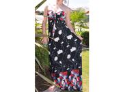 Black,Red Tube/Halter Maxi Dress