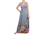 Gray Multi Color Garden Maxi Dress