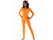 Neon Orange Scoop Neck Unitard
