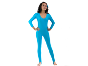 Turquoise Scoop Neck Stirrup Unitard