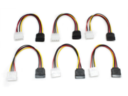"Aleratec 6"" 4 Pin Molex to SATA Power Cable Adapter, 6-Pack Combo"