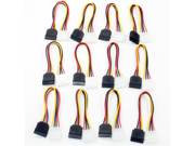 Aleratec Molex to SATA Power Adapter Cable, 6 inches 12-Pack Combo