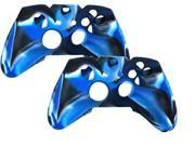 controller Silicone cover for Xbox one skin protective case for XBOX ONE console - Blue 2pcs Pack