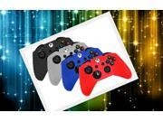 Bulk Lot 4pcs - Silicone Case Cover for Xbox One Controller - Black Blue Clear Red
