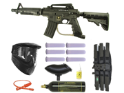 US Army Alpha Black Tactical E-Grip Paintball Marker Gun 3Skull Mega Set