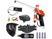 Azodin Blitz Paintball Marker Gun 3Skull 4+1 Halo Too Mega Set - Orange/Silver