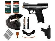 Kingman Training Chaser .43 Cal Paintball Pistol Starter Kit - Silver