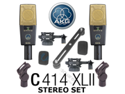 AKG C 414 C414 XLII ST Condenser Microphones Stereo Set