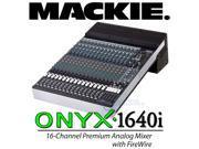 Mackie Onyx 1640i 1640 FireWire 16-Chan Analog Mixer EQ