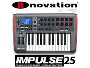 Novation Impulse 25 Key MIDI Controller Keyboard w 8 Drum Pads
