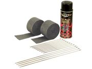 DEI 010330 Motorcycle Exhaust Wrap Kit (Black wrap w/Black HT Silicone Coating)