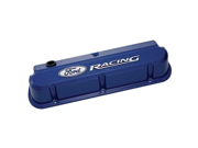 "Proform 302-136 ""Ford Racing"" Die-Cast Valve Covers, Slant-Edge, Ford® Blue,"
