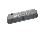 "Proform 302-137 ""Ford Racing"" Die-Cast Valve Covers, Slant-Edge, Cast Gray"