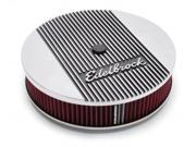 "Edelbrock 4266 Air Cleaner, Elite II, 14"""" Diameter with 3"""" Element, Polished"" 9SIV01U59H0036"