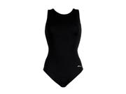 Dolfin Ocean Moderate Solid Lap Suit Female Black 8