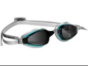 Aqua Sphere K180 Lady Swim Goggles Smoke Lens Aqua/Crystal Frame