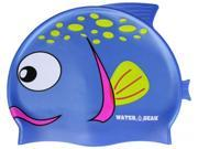 Water Gear Spotted Blue Fish Silicone Swim Cap
