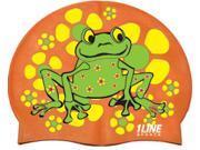 1Line Sports Frog Power Silicone Swim Cap Orange