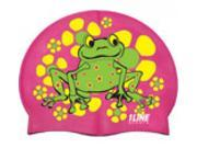 1Line Sports Frog Power Silicone Swim Cap Pink