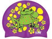 1Line Sports Frog Power Silicone Swim Cap Purple