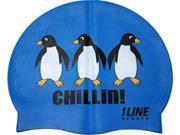 1Line Sports Chillin Silicone Swim Cap Royal