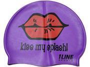 1Line Sports Kiss My Splash Silicone Swim Cap Purple
