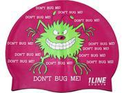 1Line Sports Don't Bug Me Silicone Swim Cap Pink