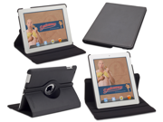 Rotating iPad 2, iPad 3, or iPad 4 case: Detour 360 by Devicewear - Black Vegan Leather New iPad Case With On/Off Switch (Compatible with 2nd generation, 3rd generation, and 4th generation iPads)