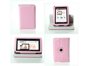 Deft Dante 360: Rotating Pink Kindle Fire Case (One-Piece Kindle Fire Cover Multi-angle Vertical and Horizontal Stand)