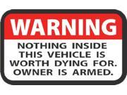 WESTERN RECREATION WARNING LABEL DECAL 2x3