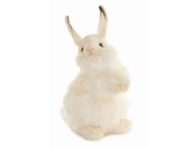 "Baby White Rabbit 12.6"" by Hansa"