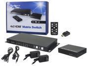 HDBaseT™ 4x2 HDMI Matrix Switch and Receiver