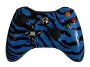 Blue Zebra Xbox 360 Controller With Evil D-Pad