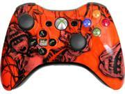 Custom Xbox 360 Controller: Xtreme Orange Nightmare With Evil D-Pad