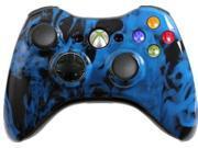 Custom Xbox 360 Controller: Blue Fire