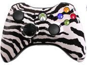 Custom Xbox 360 Controller: White Zebra