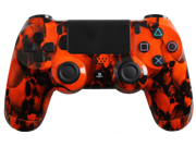 PlayStation 4 Dualshock 4 - Custom PS4 Controller with Orange Skullz Shell