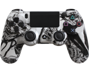 Custom PlayStation 4 Controller Special Edition White Nightmare Controller