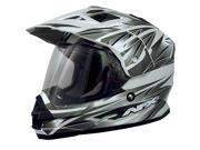AFX FX-39DS Dual Sport Strike Full-face Street Helmet Silver XS 9SIA1450U14503
