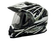 AFX FX-39DS Dual Sport Strike Full Face Helmet Black MD 9SIA1450U13383