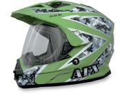 AFX FX-39DS Dual Sport Urban Full Face Helmet Green MD 9SIA1450U13398