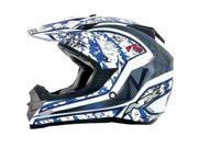 AFX FX-19 Vibe MX Offroad Helmet Blue SM 9SIA1450U13507
