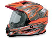 AFX FX-39DS Dual Sport Strike Full Face Helmet Safety Orange MD 9SIA1450U14463