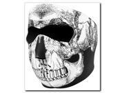 Zan Headgear Full Face Neoprene Mask  Black & White Skull Face 9SIA1450UY5268