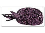 Zan Headgear Highway Honey Womens Flydanna/Bandana Purple Paisley Skull 9SIA1450UY5889