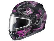HJC CL-17 2014 Mystic Snow Helmet With Frameless Shield Pink/Black XS